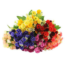 25 Heads Artificial Fake Carnation Flower Bouquet Home Party Bridal Decor