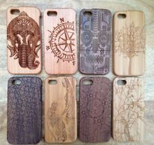 """LUXURY CARVED HARD WOODEN PROTECTOR CASE WOOD COVER APPLE IPHONE 5 5S 6(4.7"""")"""