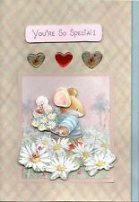 Handmade Country Companions for All Occasions Cards - Mouse, Hedgehog