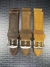 22mm Genuine Leather Strap Brown Tang Assolutamente Watch Band for PANERAI BKL