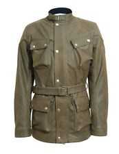 Panther Jacket in KHAKI Distressed Real Leather