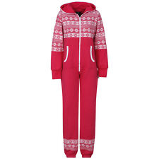 WOMEN LADIES XAMS PLUS SIZE ONESIE STYLISH CHRISTMAS PYJAMAS SNOW FLAKE ONSIE