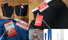Slazenger Blue Grey Closed Cuffed Hem Woven Tracksuit Bottoms Pants Joggers Mens