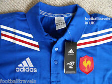 S M L XL XXL 3XL FRANCE ADIDAS RUGBY POLO SHIRT jersey CLIMALITE COTTON NEW TAGS