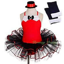 Sequined Ballet Tutu Dance Costume Jazz Fancy Party Dress Arm Mitts Size 2-8 032