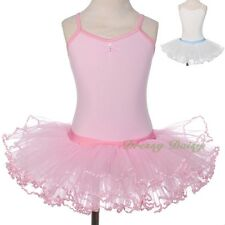 Ribbon Ballet Tutu Ballerina Dancwear Leotard Fancy Fairy Dress Kid Size 3-8 057