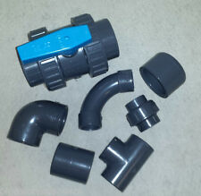 "PVC SOLVENT WELD PIPE FITTINGS - 1/2"" to 4"" - POND PRESSURE PLASTIC INDUSTRIAL"