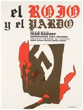 9764.En rojo y el par do.swastika bleeding.POSTER.decor Home Office art