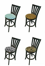 FC83 THEMED CAPPUCCINO ESPRESSO KITCHEN COUNTER HEIGHT PADDED CUSHION BAR STOOLS