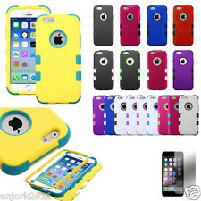 """iPhone 6 (4.7"""") Hybrid Def Armor Case Dual Layered Cover + Screen Protector"""