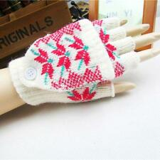 NEW Women Winter Gloves Flip Fingerless/Full Finger Gloves Mittens 1Pair B11