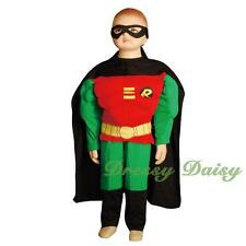 Robin Superhero Halloween Fancy Party Costumes Outfit Kid Boy Size 2 3 4 5 6 007