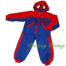 Spiderman Superhero Jacket & Trousers Costume Outfit Kid Boy Size 2 3 4 5 6 #023