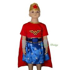 Wonder Woman Superhero Fancy Dress Costume Party Halloween Size 2 3 4 5 6 #029