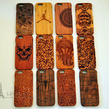 """LUXURY CARVED HARD WOODEN PROTECTOR CASE REAL WOOD COVER APPLE IPHONE 6 (4.7"""")"""