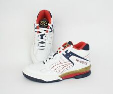 "Asics GEL Spotlyte ""Isiah Thomas"" White, Red, Blue, Gold, USA Sneakers H447L0101"