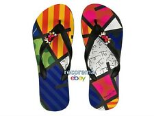 ROMERO BRITTO LANDSCAPE  FLIP FLOPS NEW  with tag  MADE IN BRAZIL