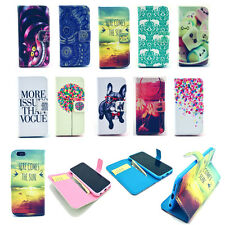 New Hybrid Leather Wallet Card Stand Flip Cover Case for iPhone 6 Plus 4 5S 5C