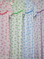 """100%COTTON (SOFT)RIBBED JERSEY COTTON NIGHTDRESS 43""""LENGTH FREE POSTAGE UK ONLY)"""