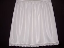 "UNDERSKIRT WAIST SLIP HALF SLIP 20""FINISH(SHORT)£5.30 WHITE,BLACK & CREAM"