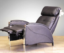 Barcalounger Horizon II Genuine Leather Recliner Lounger Chair - Stargo Black