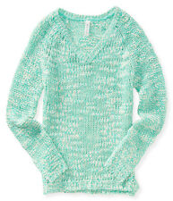 aeropostale womens neon v-neck sweater