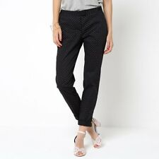 La Redoute Womens Tapered Trousers With Turn-Ups
