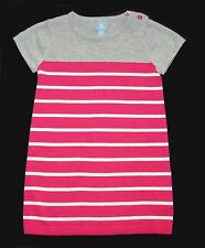 Baby Gap toddler girl pink knit striped short sleeve sweater dress size 2-4 NWT