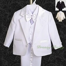 5pc Set Formal Suits Baptism Christening Wedding Pageboy Outfits Size 000-4 #022