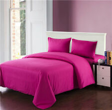 Tache 3 to 4 Piece 100% Cotton Solid Hot Bright Pink Comforter Set With Zipper