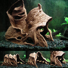 Aquarium Ornament Tunnel Cave Hide Fish Tank Bowl Decoration Clay Shelter