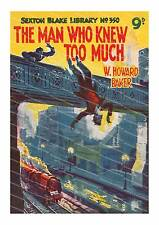 The man who knew too much , old pulp magazine cover poster reproduction.