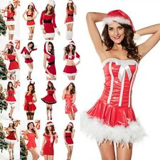 New Women's Costume Ladies Miss Claus Xmas Santa Christmas Fancy Cosplay Dress