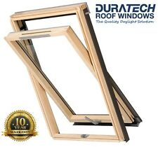 2x Duratech (Rooflite) Vented Roof Window Skylight 1140 x 1180mm Inc. Flashing