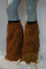 Rust Copper Fluffy Legwarmers Rave Wear Accessories