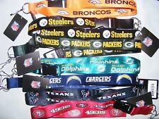 NEW NFL Football Sports Neck Lanyard with Keychain Clip - PICK YOUR TEAM!