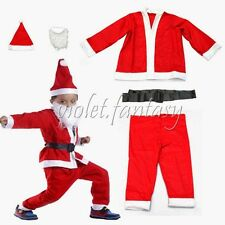 Set Of 5 Christmas Children Baby Boy Santa Suit Santa Claus Costume Suit Outfit