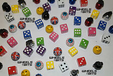 KIA All Models Dice EYE Ball Union Jack Grenades Valve Caps Dust Cap Dusties