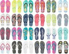 AERO AEROPOSTALE Aero Logo Womens Flip Flops Sandals Thongs Sizes: 6,7,8,9,10
