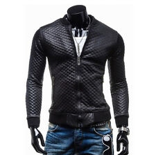 CHEAP HOT  2015 Fashion WINTER Mens Slim Fit PU Leather Motorcycle Jacket Coats