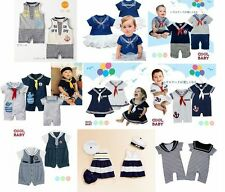 New Baby Boy Girl Sailor Marine Costume Outfit One Piece Romper Size000. 00.0.1