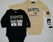 New Orleans Saints Baby Infant Creeper Bodysuit 2 Pack 0/3M, 3/6M,12M,18M NWT