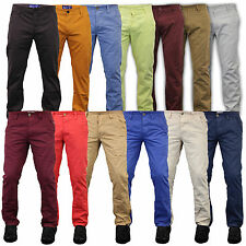 mens chino jeans pants straight leg regular fit trousers bottoms supa casual