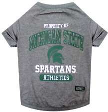 NCAA Pet Fan Gear MICHIGAN STATE SPARTANS Dog Shirt for Dogs BIG SIZE XS-XL