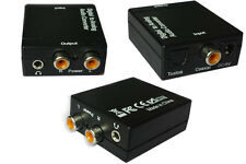 2015EUR Digital Optical Coaxial Toslink Signal to Analog Audio Converter Adapter