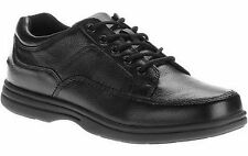"DR SCHOLL'S ""STAND"" MEN'S WIDE WIDTH BLACK LEATHER CASUAL OXFORDS LACE UP SHOES"