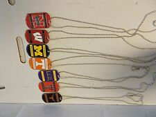 College NCAA Team Dog Tag Necklaces.  You Choose the Team