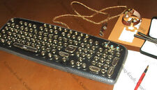 "The exclusive Vintage   : Steampunk Keyboard  "" JOVE  "" & Illuminated USB"