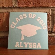 Class of 2015 Graduation Vinyl Decal for Car, Laptop, Notebooks and More!