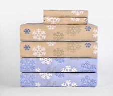 Pointehaven Flannel Sheets Set Snowflakes Christmas King Queen Full Twin Size